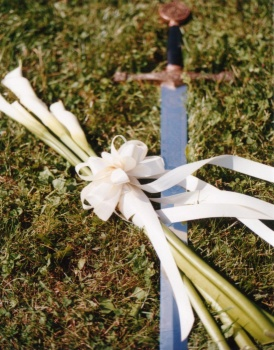 Flowers and Sword at Ben and Jana's Wedding 2000